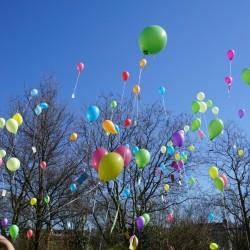 Luftballons vom Gymnasium Altona...