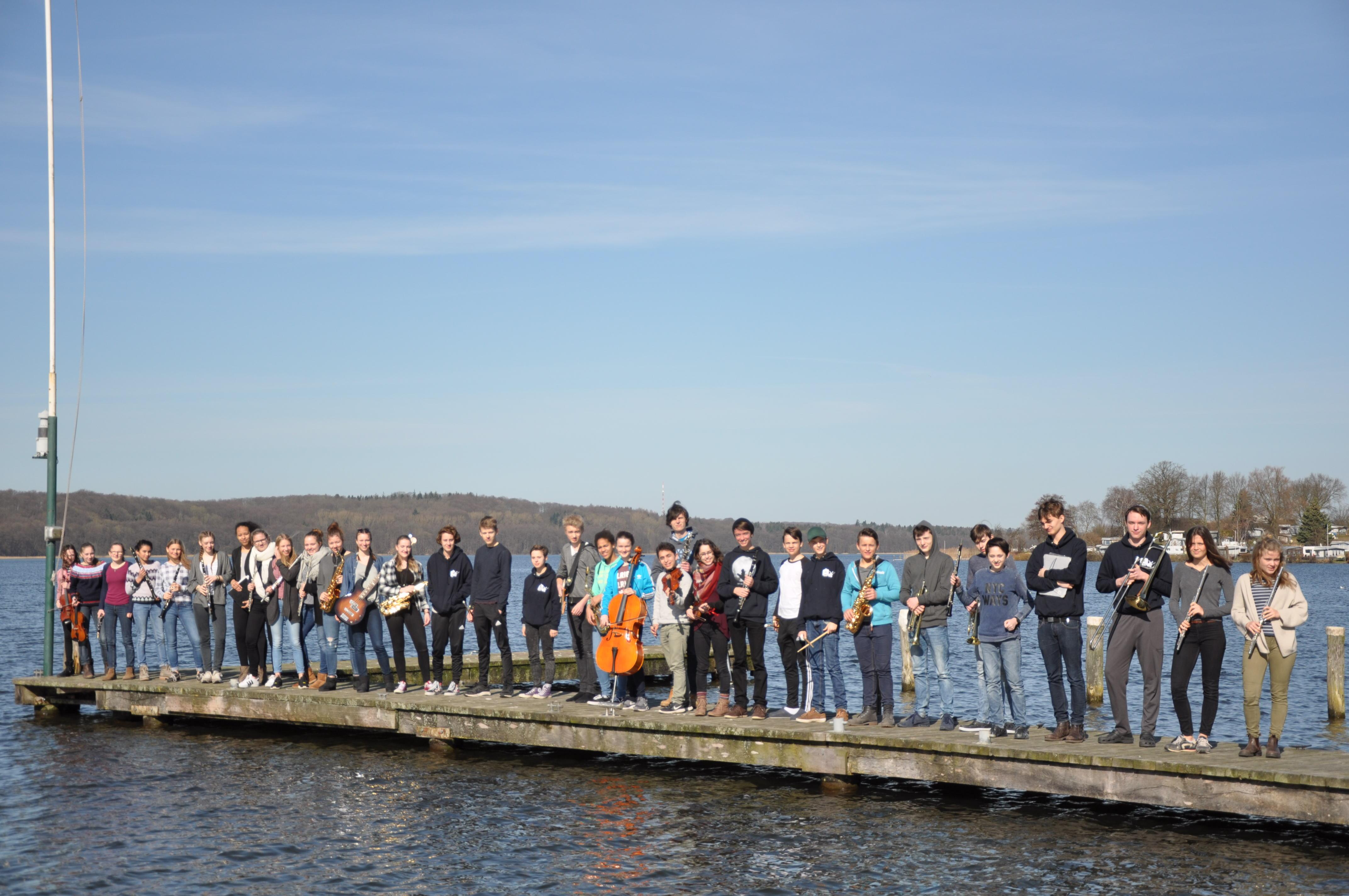 Probenfreizeit des Bigband-Orchesters am Ratzeburger See
