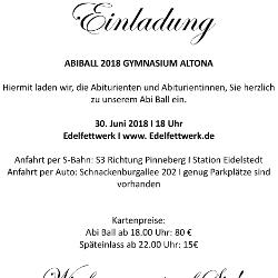 Einladung Abiball 2018