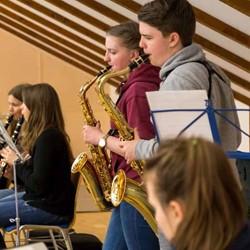 Probenfreizeit des Bigband-Orchesters